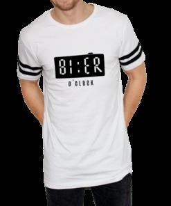 Herren T-Shirt Bier o'clock weiss