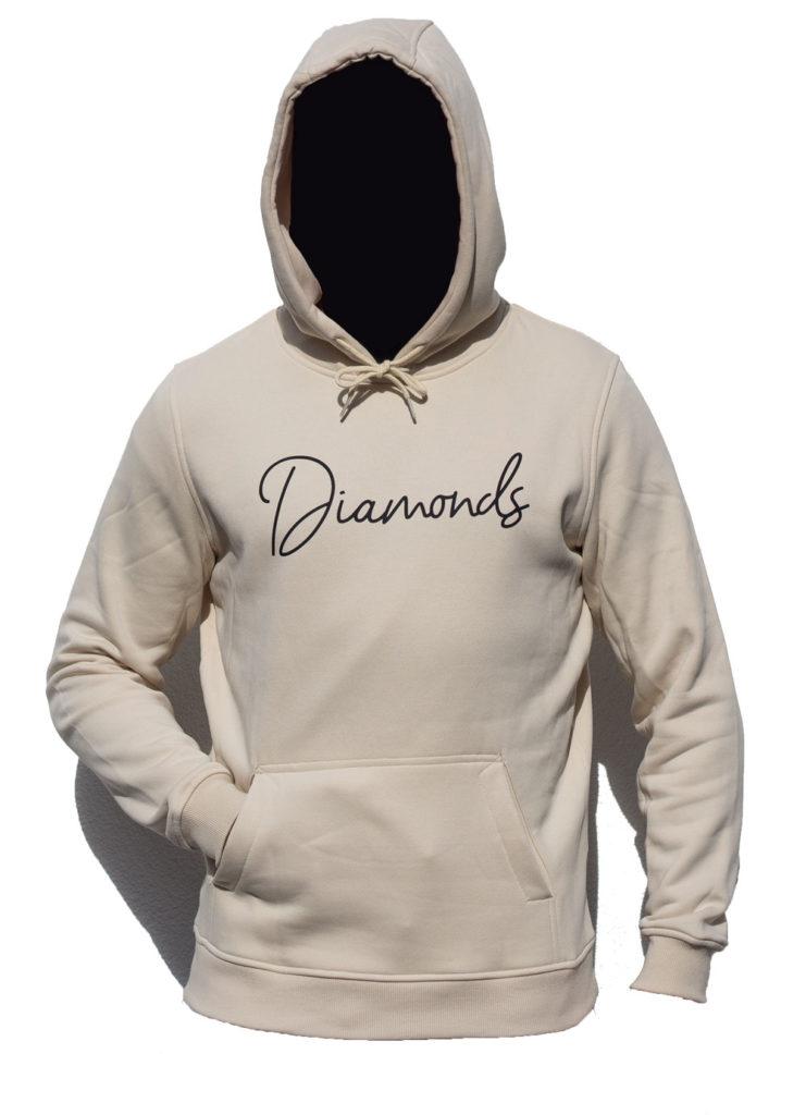 Diamonds-Hoodie-Sand