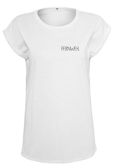 Fernweh T-Shirt weiß Frauen